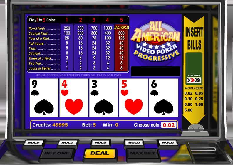 casino video poker machines