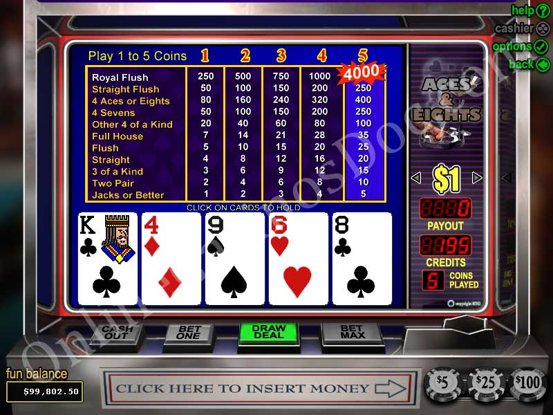 jouer au video poker