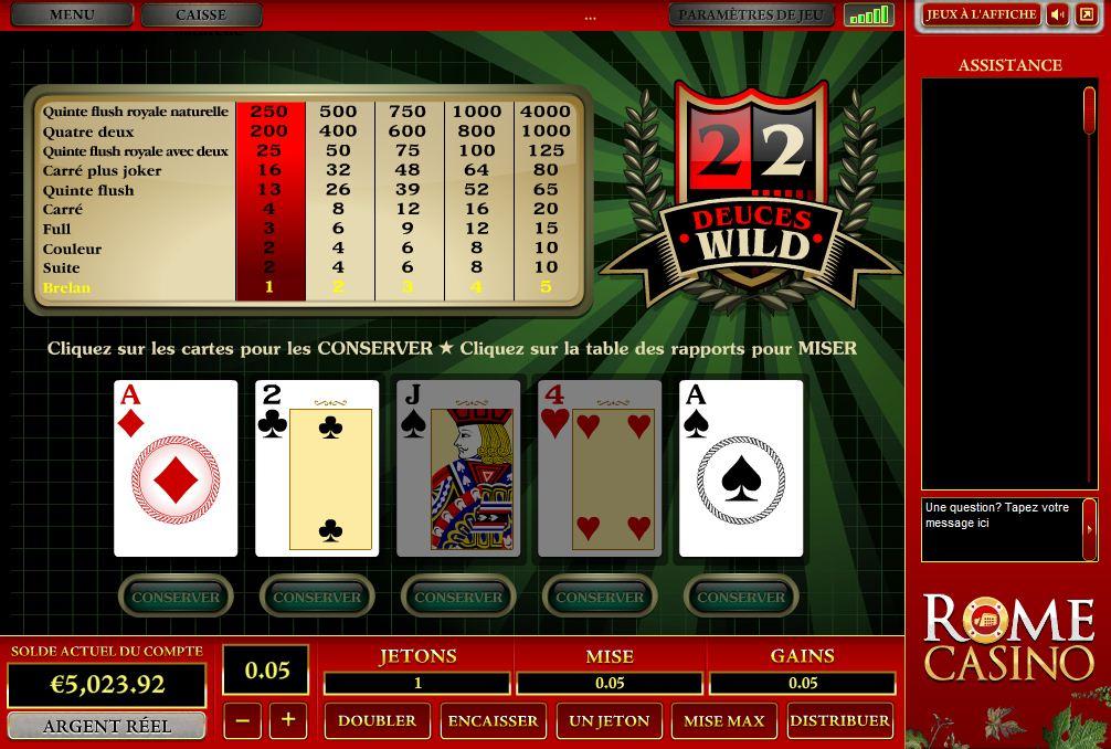 Jouez aux Deuces Wild Vidéo Pokers en Ligne sur Casino.com Suisse