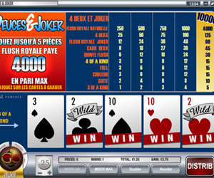 video poker sur golden cherry