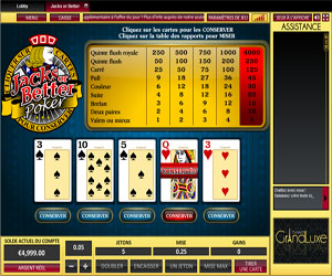 video poker sur casino Grand Luxe